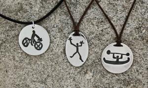 Cyclist, climber and kayaker